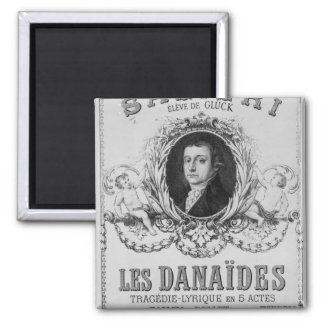 Advertisement for 'Les Danaides' Refrigerator Magnets