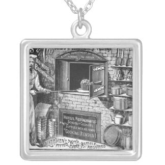 Advertisement for Lomas and Co. Silver Plated Necklace