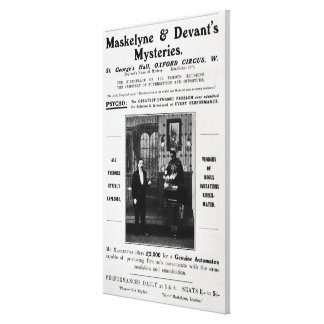 Advertisement for Maskelyne & Devant's Mysteries Stretched Canvas Prints