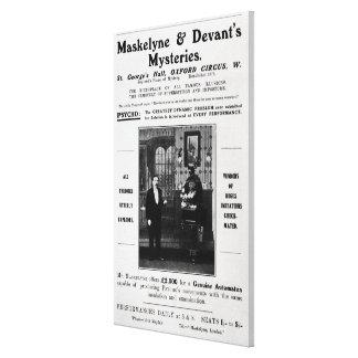 Advertisement for Maskelyne & Devant's Mysteries Canvas Print