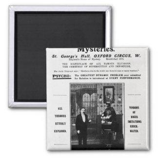Advertisement for Maskelyne & Devant's Mysteries Magnet