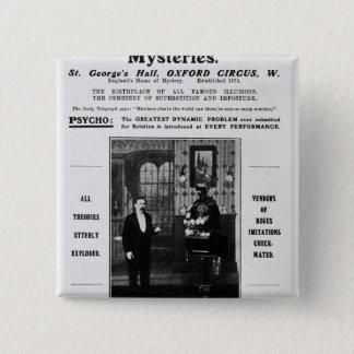Advertisement for Maskelyne & Devant's Mysteries Pinback Button