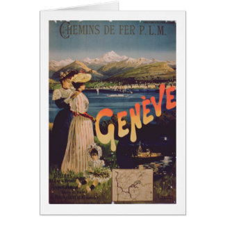 Advertisement for 'P.L.M. Railways to Geneva' (col Card