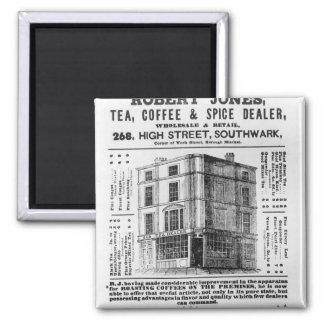 Advertisement for Robert Jones, Tea 2 Inch Square Magnet