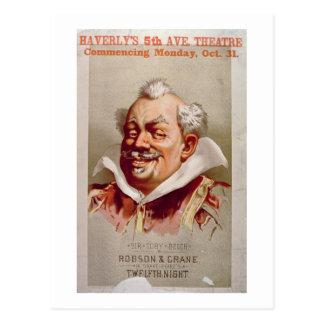 Advertisement for Robson & Crane's 'Twelfth Night' Postcard
