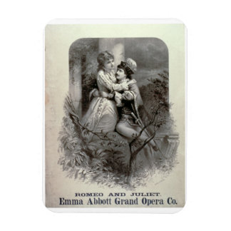 Advertisement for 'Romeo And Juliet', Starring Emm Rectangular Photo Magnet