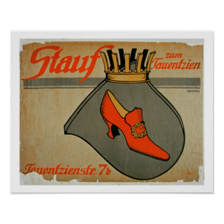 Advertisement for 'Stauf Shoes' (colour litho) Poster