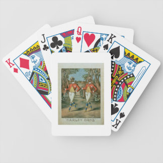 Advertisement for the 'Harley Brothers' (colour li Bicycle Playing Cards