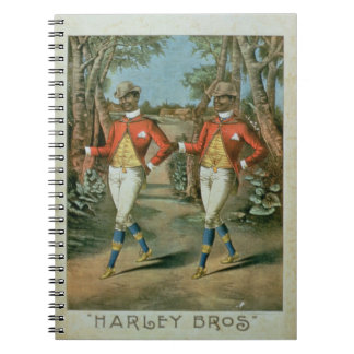 Advertisement for the 'Harley Brothers' (colour li Spiral Notebook