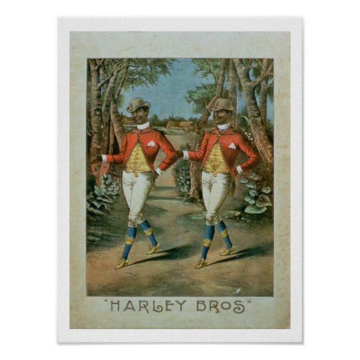 Advertisement for the 'Harley Brothers' (colour li Poster