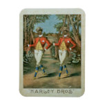 Advertisement for the 'Harley Brothers' (colour li Rectangular Photo Magnet
