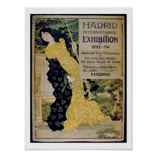 Advertisement for the 'Madrid International Exhibi Poster