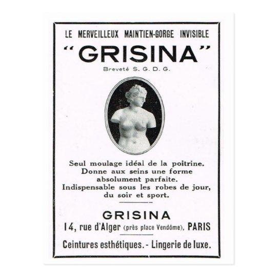 Advertisement, Grisinor Postcard
