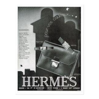 Advertisement,  Hermes Post Card