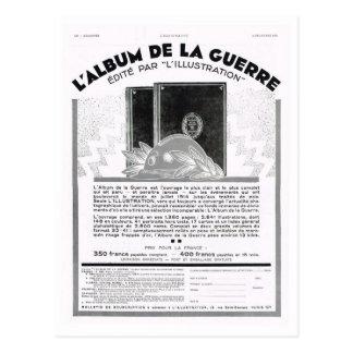 Advertisement, L'Album de la guerre Postcard
