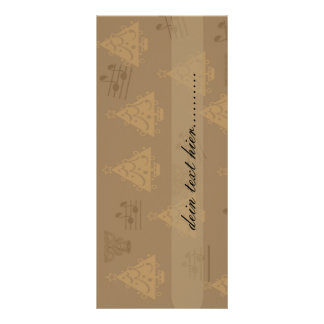 advertisement map with motive for wine eight personalized rack card