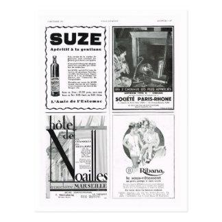 Advertisement,  Suse aperitif Postcard