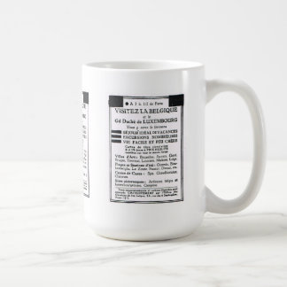 Advertisement, Visitez la Belgique Coffee Mug