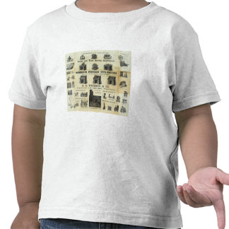 Advertisement with Guide Map Shirt