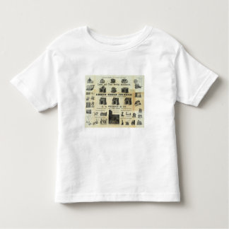 Advertisement with Guide Map Tee Shirts