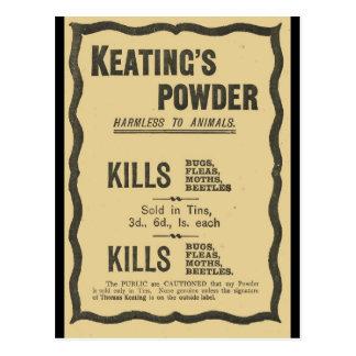 Advertisements 1930s,  Keatings Powder Postcard