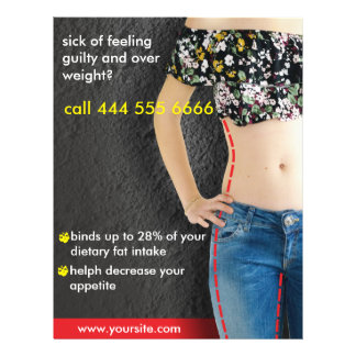 advertisements for diet flyer