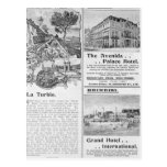Advertisements for La Turbie Restaurant, Postcard