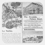Advertisements for La Turbie Restaurant, Square Sticker