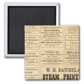 Advertisements for oil 2 inch square magnet