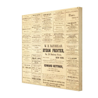 Advertisements for oil canvas print