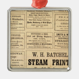 Advertisements for oil metal ornament