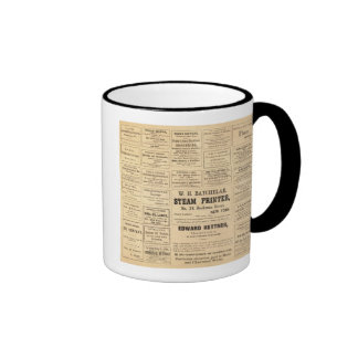 Advertisements for oil ringer coffee mug
