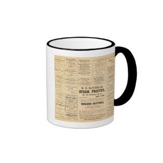 Advertisements for oil ringer mug