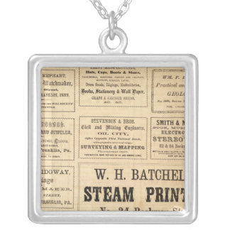 Advertisements for oil square pendant necklace
