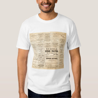 Advertisements for oil t shirt