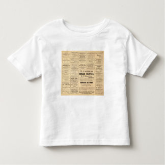 Advertisements for oil toddler t-shirt