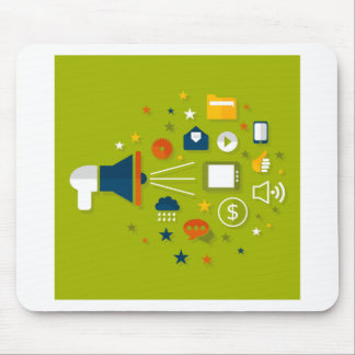 Advertising a megaphone mouse pad
