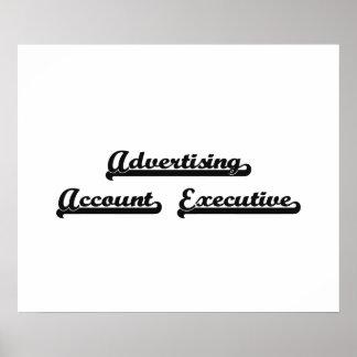 Advertising Account Executive Artistic Job Design Poster