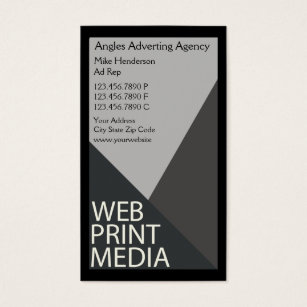 Advertising agency business cards templates zazzle advertising agency business card colourmoves