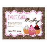 Advertising Card Cup Cakes Bakery Sweet Treats Postcard