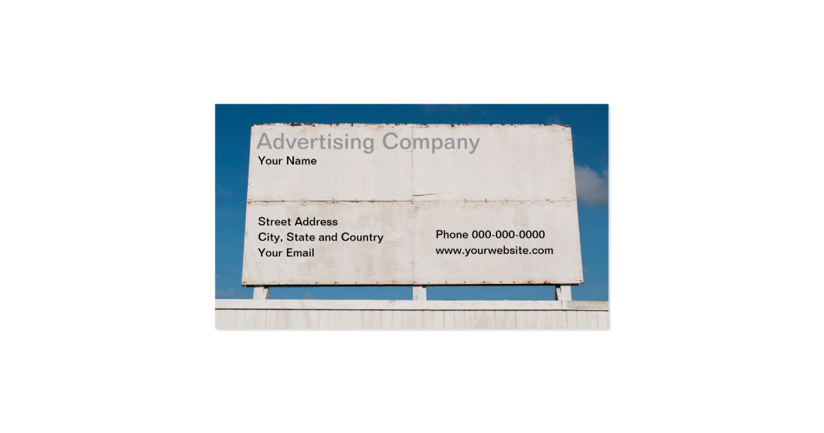 Advertising pany Business Card