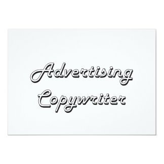 "Advertising Copywriter Classic Job Design 5"" X 7"" Invitation Card"