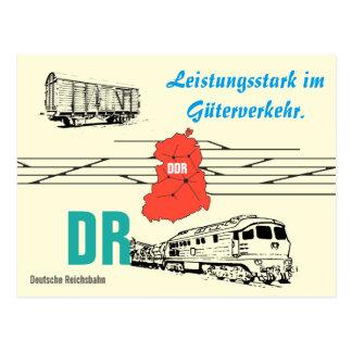 Advertising Design German National Railroad goods Postcard