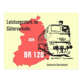 Advertising Design German National Railroad. Postcard