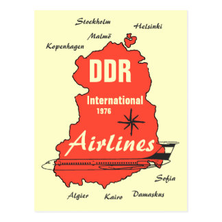 Advertising Design interflight GDR Postcard