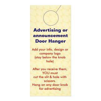 Advertising DOOR HANGER promotion tags Custom Rack Card