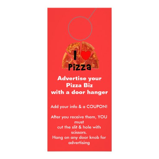 Advertising DOOR HANGER promotion tags Customized Rack Card