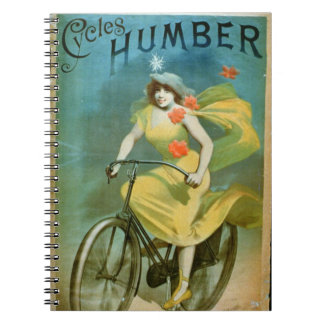 Advertising for 'Humber Cycles' (colour litho) Spiral Note Books