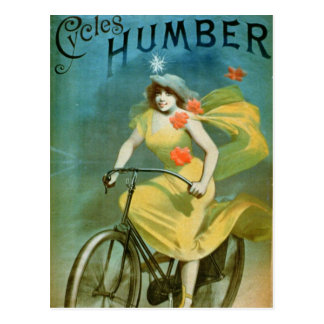 Advertising for 'Humber Cycles' (colour litho) Postcard