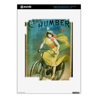 Advertising for 'Humber Cycles' (colour litho) iPad 3 Skin